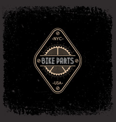 Bike parts label vector