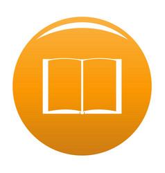 Book novel icon orange vector
