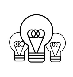 Bulb idea and creative line icon vector