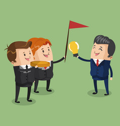 Business teamwork with ideas vector