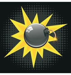 Cartoon Black Bomb2 vector image