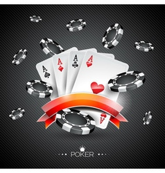 casino with poker symbols vector image