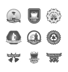Cleaning labels set vector