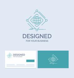 Complex global internet net web business logo vector