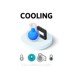 Cooling icon in different style vector