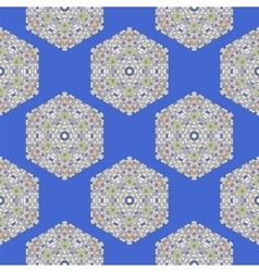 Creative Ornamental Seamless Blue Pattern vector image
