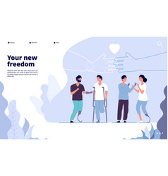 disabled people landing international day vector image