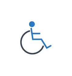 disabled related glyph icon vector image