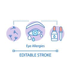 Eye allergies concept icon airborne allergic vector