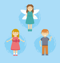 fairy and kids vector image