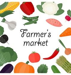 Farmers food design template vector
