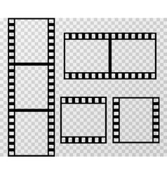 Film strip photo frame template isolated on vector image