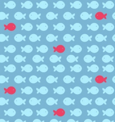fish print vector image