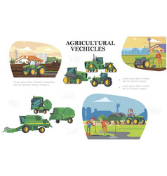 flat farming colorful composition vector image