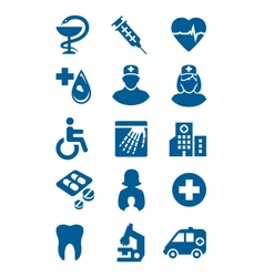 general medical icons vector image