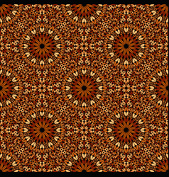 Geometrical abstract seamless floral pattern vector