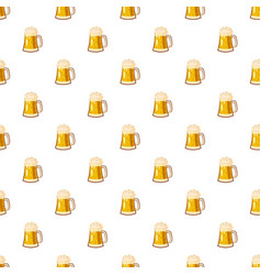 Glass mug with beer pattern vector