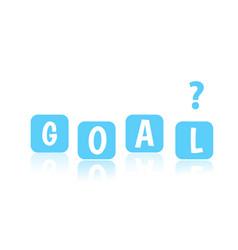 Goal object design business presentation vector