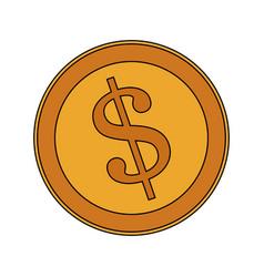 golden coin icon image vector image