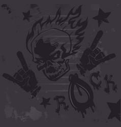 grunge hard rock graffiti poster vector image