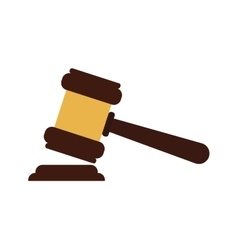 Hammer icon Law and justice design vector image