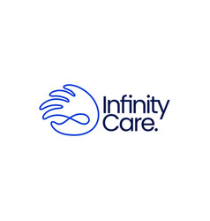 Hand infinity mobius limitless care donation help vector