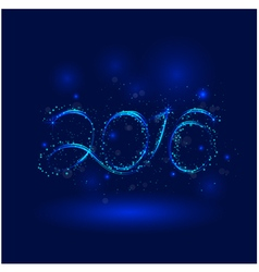 Happy New Year 2016Greeting card design vector image vector image