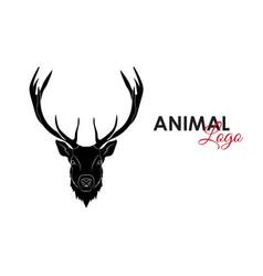 head deer icon logo symbol vector image