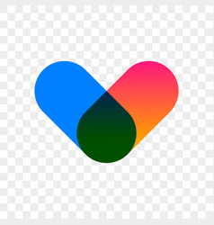 heart logo abstract app modern icon vector image