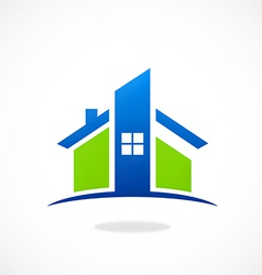 home real estate abstract construction logo vector image