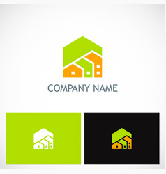 house real estate company logo vector image