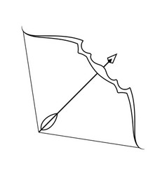 icon of bow and arrow vector image