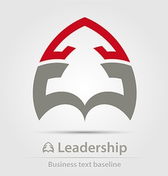 Leadership business icon vector image