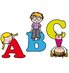 learning the alphabet vector image