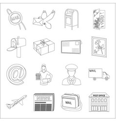 Library and bookstore set icons in line style big vector