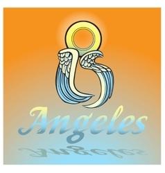 Los Angeles - big city of angels vector image