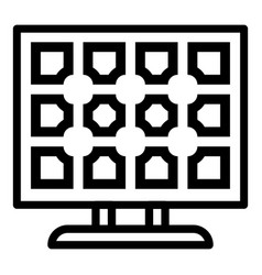 Modern solar panel icon outline style vector