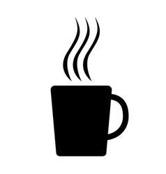mug icon black silhouette vector image