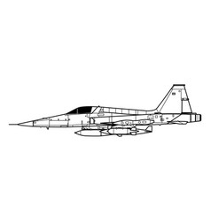 northrop f-5a freedom fighter vector image