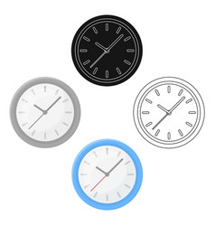 office clock icon in cartoonblack style isolated vector image