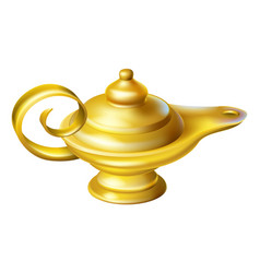 oil lamp vector image