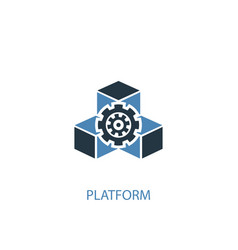 platform concept 2 colored icon simple blue vector image