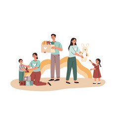 Playing with orphans concept vector