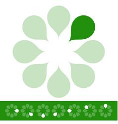 Preloader progress indicators with organic green vector