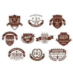 Premium and highest quality guaranteed labels vector image