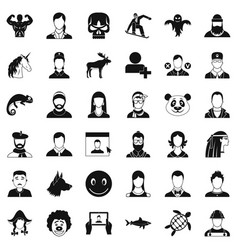 Privacy icons set simple style vector