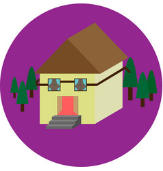 Purple house vector