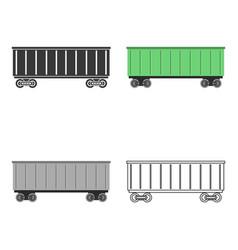 Railway carriage icon vector