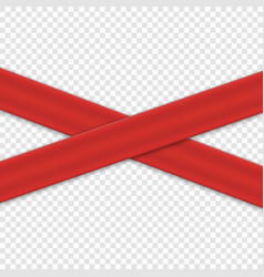 Realistic red ribbon isolated vector