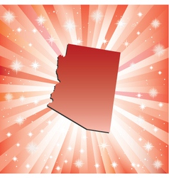 Red Arizona vector image
